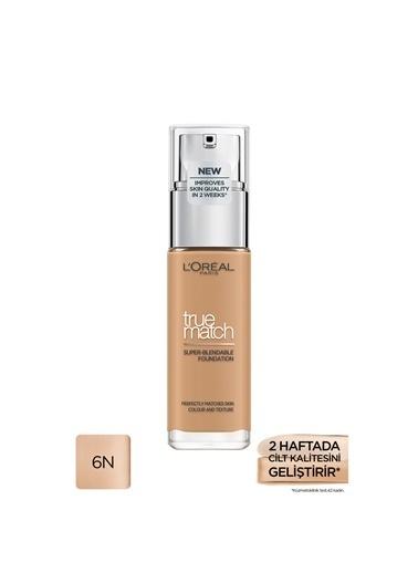 L'Oréal Paris True Match Fondöten 6N Mıel/Honey Renkli